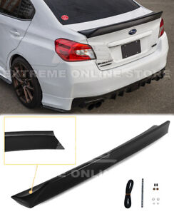 Plastic RB Style Duckbill Rear Trunk Lid Wing Spoiler For 15-21 Subaru WRX STi
