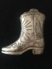 Vintage Signed Made In Occupied Japan Silver Pl. Metal Cowboy Boot Lighter