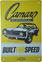 "CAMARO CHEVROLET CHEVY Retro Metal Tin Sign Garage Mechanic Man Cave 8x12"" NEW"