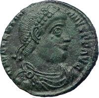 VALENTINIAN I 364AD Genuine  Ancient Roman Coin ANGEL VICTORY Nike   i73200