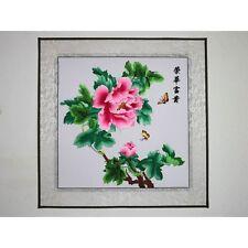 Schmetterlinge und Pfingstrose, chinesisches Bild Stickbild Stickkunst Stickerei