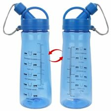 Motivational Fitness Workout Sports Water Bottle with Time Markings BPA Free 1lt