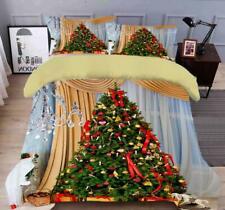 3D Crystal Light Tree N519 Christmas Quilt Duvet Cover Xmas Bed Pillowcases Fay