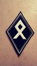 Odal Rune Diamond Patch HARLEY Outlaw 1%er Viking, Thor, White & Black