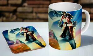 Back To The Future Martie Tea / Coffee Mug Coaster Gift Set