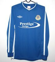 Barton Rovers FC England away match worn football shirt #4 Size M Umbro