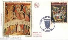 1973//FDC SOIE 1°JOUR!!**EGLISE ST.AUSTREMOINE D'ISSOIRE**TIMBRE Y/T 1741