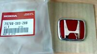 Front Emblem Honda Type-R Red Emblem Civic EK9 75700-S03-Z00 OEM Genuine