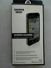 GENUINE 2 PACK Sharper Image Screen Protector Guard Shield for iPhone 4 and 4S