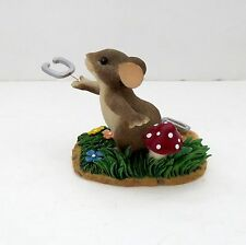 "Charming Tails ""Give Luck A Shot"" Resin Figurine"