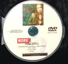 FIONA APPLE CRIMINAL Promotional Record Company Music Video DVD Single (NOT CD)