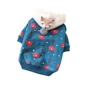Pet Cat Dog Clothes Winter Coat Warm Hoodie Clothes Clothing Soft Pet Apparel