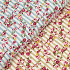 Flowers & Plants Striped Craft Fabrics