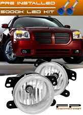 LED + 2005-2007 Dodge Magnum Replacement Fog Lights Lamp Housing Assembly Pair