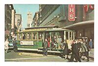 Cable Car San Francisco California Unused Vintage Postcard AF11