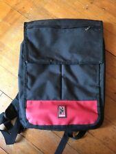 Imperfect Chrome Industries Kraków Backpack Mac PC Laptop Bag Biking Black Red