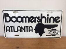 Vtg Boomershine Atlanta Georgia Buckhead Nissan Datsun Dealership License Plate