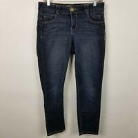 Democracy Ab Solution Womens Skinny Jegging Crop Dark Wash Jeans Size 6