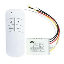 1/2/3 Way Wireless ON/OFF 220V Lamp Remote Control Switch Receiver Transmitter
