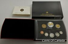 2005 Canada 8 Coin Silver PROOF Set w/ Gold Plated Silver Dollar #coinsofcanada