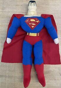 Toy Works DC Justice League Superman Plush Doll Superhero Vintage Rare Cape