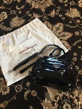 SALVATORE FERRAGAMO Sofia Bag In Black Patent Leather ( Medium )