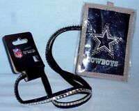 DALLAS COWBOYS BLING BEADED LANYARD ID WALLET NEW
