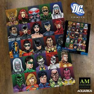 Aquarius Puzzle - Dc Comics - Character - Faces - 1000 Pieces New/Boxed