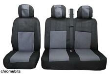 GREY BLACK FABRIC SEAT COVERS 2+1 FOR RENAULT TRAFIC MASTER NEW