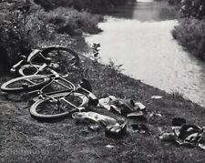 1958 Vintage Boys Gone Swimming Skinny Dipping Bicycles Carl Mansfield Photo Art