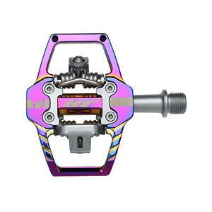 HT Pedals T1 Clipless Platform Pedals, CrMo spindle - Oil Slick