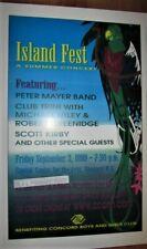 Jimmy Buffett Islandfest Summer Concert 18X12 Gloss Poster - Rare