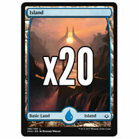 20x Full Art Island Hour of Devastation - Magic MTG - Mint/NM Pack Fresh