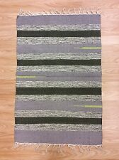 Handwoven Dhurrie 100% Cotton Striped Multi Colour RUG 60x90cm 2'x3' 50%OFF
