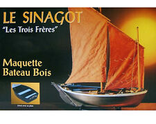 "Genuine, new Soclaine wooden model ship kit:  ""Les Trois Freres"""