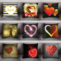 Valentine's Day Print Pillow Case Polyester Sofa Car Cushion Cover Home Decor
