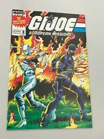 GI Joe European Missions #3 Snake Eyes Storm Shadow poster intact Marvel VF/NM