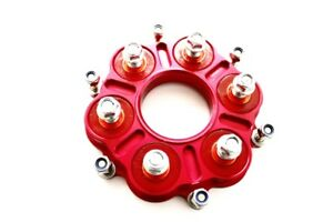 New Cush Drives & Carrier for Rear Sprocket Ducati 1098 1198 Red