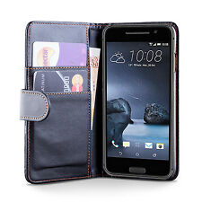 iDefend HTC One E9+ Plus PU Leather Black Wallet Case Cover + Screen Protector