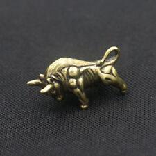 Solid Brass Bullfight Zodiac Bull Key Pendant Ornament Key Chain Best EDC K-GNB