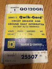 Sq D Qo120Gfi Ground Fault Qwik-Gard Circuit Breaker 1 Pole 20 Amp New-Old Stock