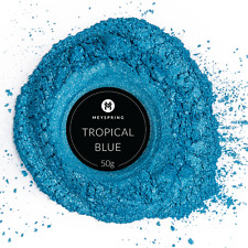 MEYSPRING Tropical Blue Mica Powder for Epoxy - Resin Color Pigment - Resin Dye