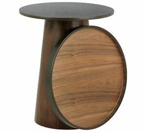 Habitat Brodi Wood Veneer Coffee Table Side End Walnut Black Wooden Home Tables