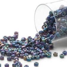 DB0871 Miyuki Delica Seed Beads 7.5g Tube Rainbow Black Matte *UK EBAY SHOP*