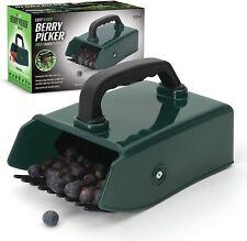 More details for plastic green berry cherry fruit picker metallic rake harvesting gardening comb