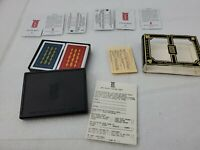 Vintage KEM Plastic Playing Cards Florence Pinochle Red & Blue Decks Case Papers