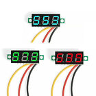 Mini DC 0-100V LED Voltage Voltmeter Panel Meter 3-Digital Diaplay with 3 Wires