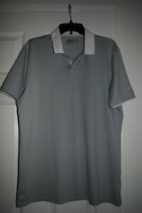 Pre-owned NIKE GOLF polo shirt  grey standard fit Medium Dri-Fit Gray