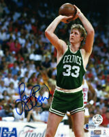 LARRY BIRD SIGNED AUTOGRAPHED 8x10 PHOTO BOSTON CELTICS LEGEND BECKETT BAS