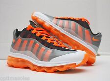 Nike Air Max 95 + Plus BB Size 4Y - White Orange Silver - 512169 007